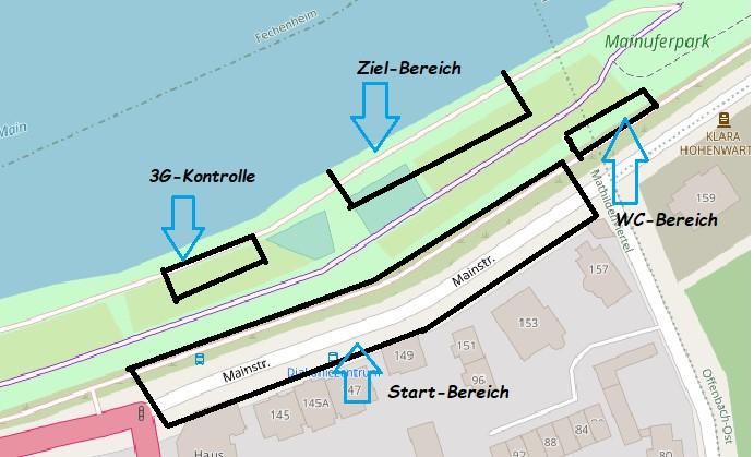 Lageplan vom OF Mainuferlauf